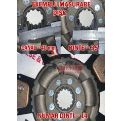 Disc Ambreiaj Ford E5NN7550BB, E8NN7550HA, 81824316, 81862926, 82006626 Anglo Parts - 2