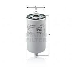 Filtru Combustibil Fendt, New Holland TD4030F WDK725 Mann Filter - 1